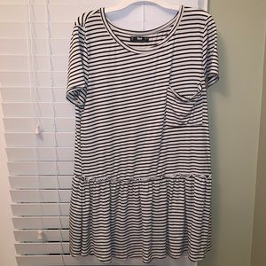 stretchy striped top